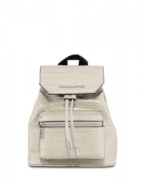 Serena small backpack beige croco
