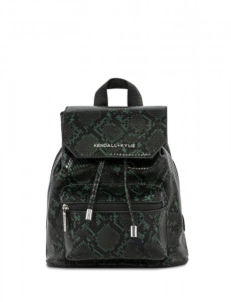 Serena small backpack green snake