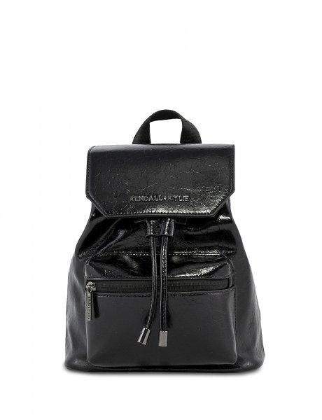 Serena small backpack crinkled black