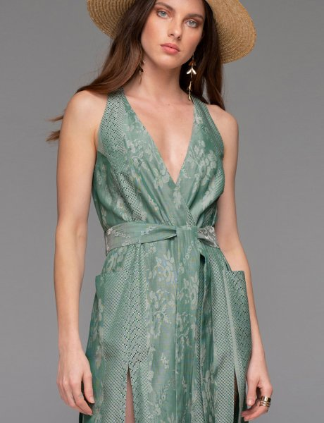 Lumineux dress green