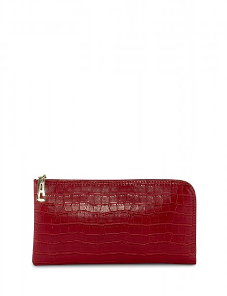 Mini clutch bag red croco
