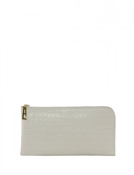 Mini clutch bag white croco