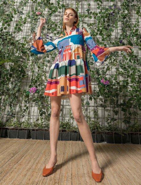 Giornata isla print dress