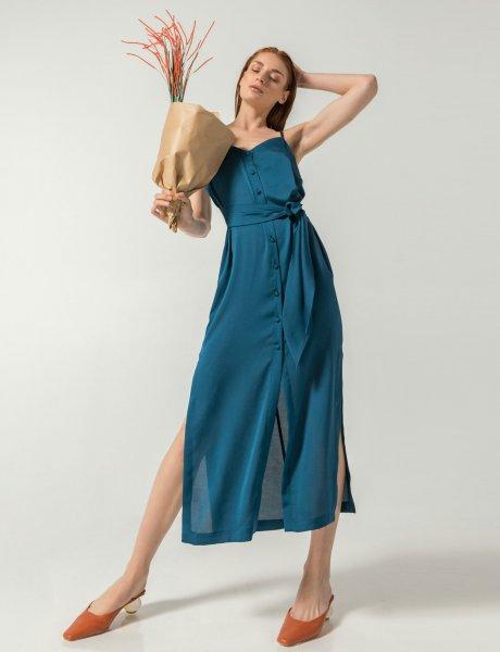 Illuminum dress silky Ibiza blue