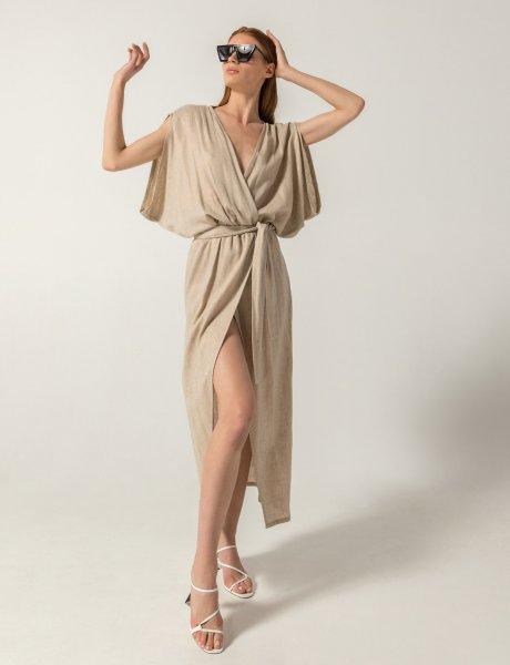 Merou dress linen metallic