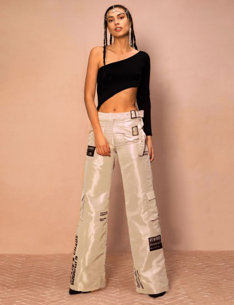 Rewired pants beige