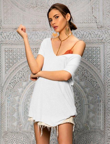 Basic roundneck t-shirt off white