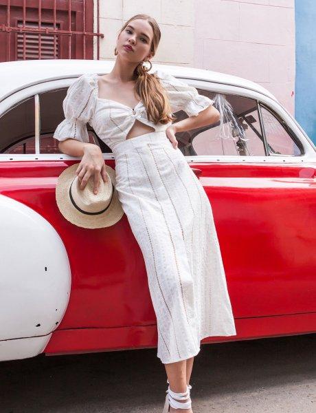 Sanduago white dress