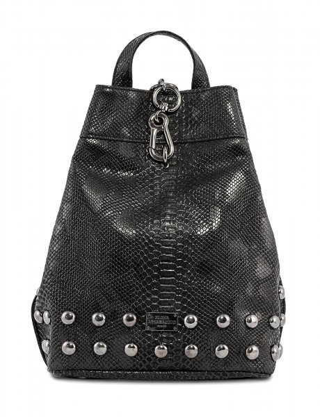 Backpack black snake metal