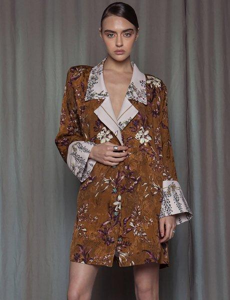 Tanzalite blazer dress
