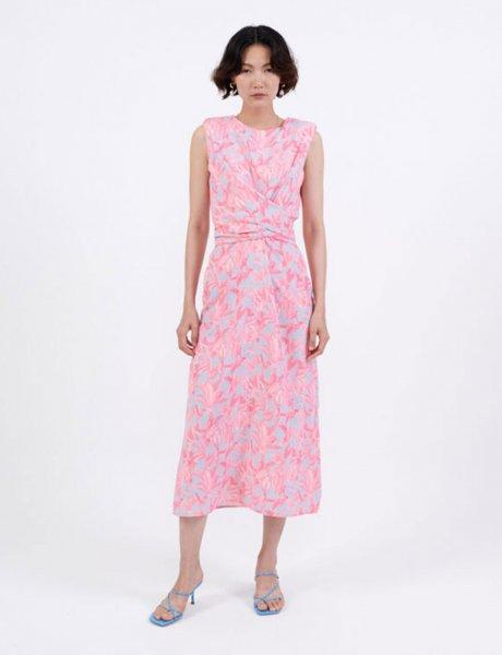 Tropical pink dress