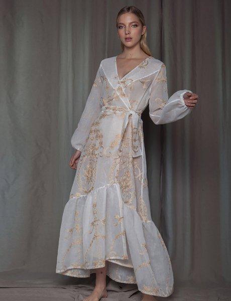 White howlite kimono dress