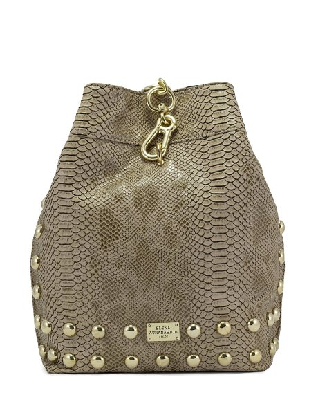 Backpack croco pattern beige