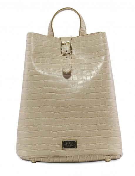 Croco backpack creme