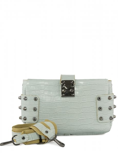 City lady croco clutch bag ice blue