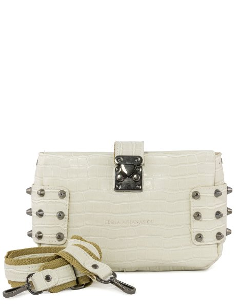 City lady croco clutch bag white