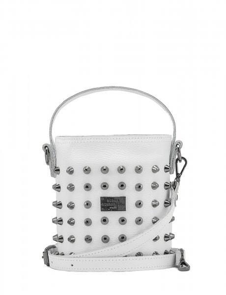 Basket bag small white