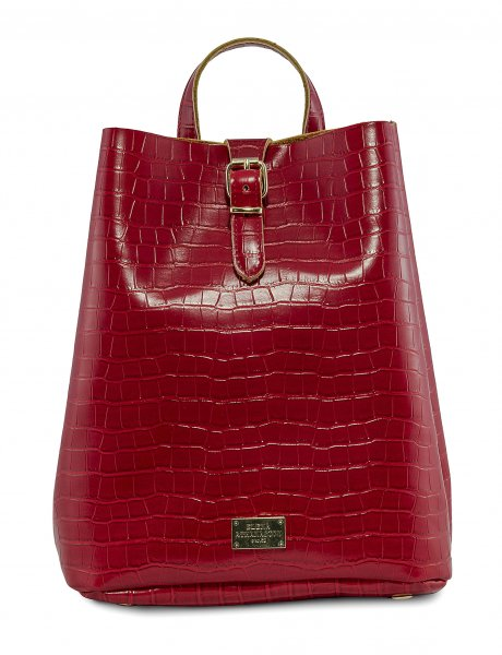 Croco backpack red