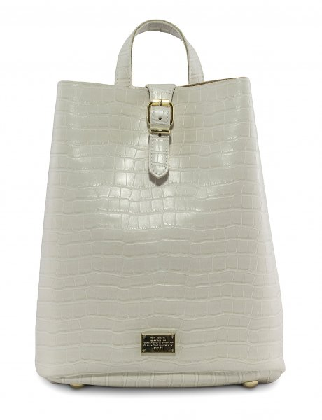 Croco backpack white