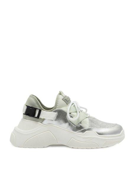 KK Lou silver sneakers