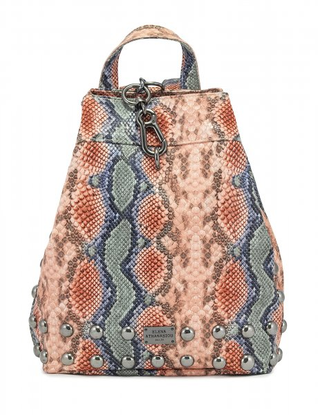 Backpack snake pink blue