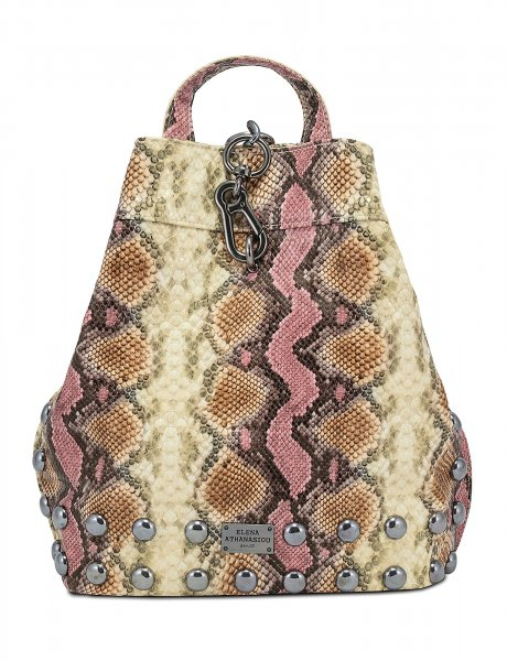 Backpack snake pink beige