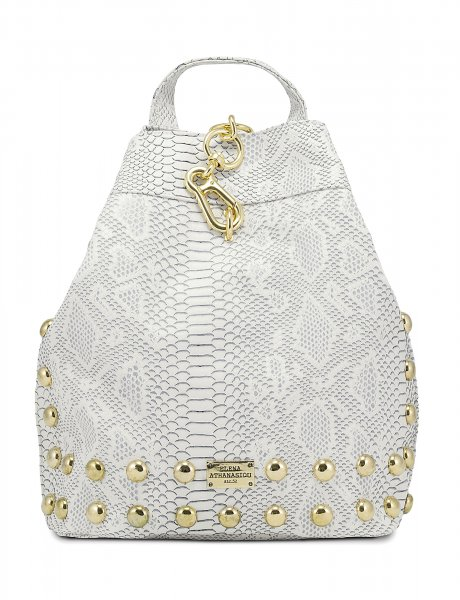 Backpack snake white gold