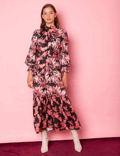 Aroma pink floral dress