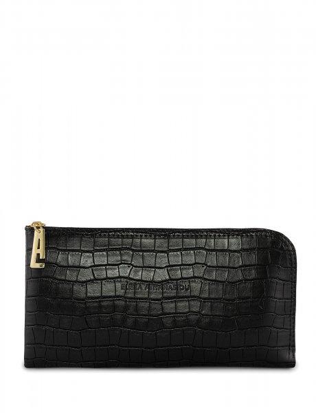 Clutch bag black croco