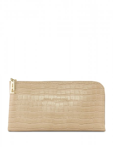 Clutch bag creme croco