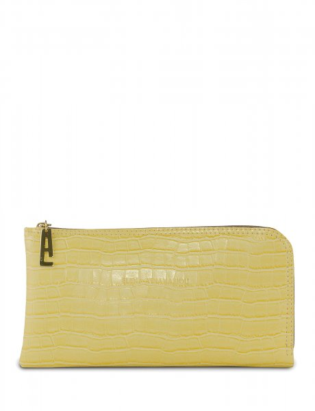 Clutch bag lemon croco