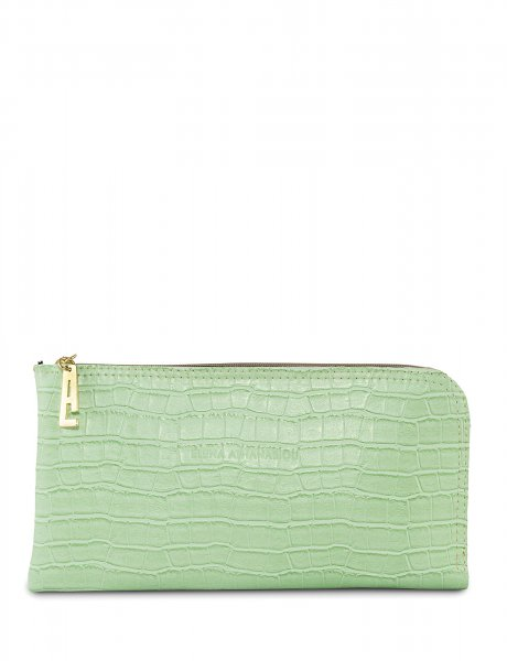Clutch bag mint croco