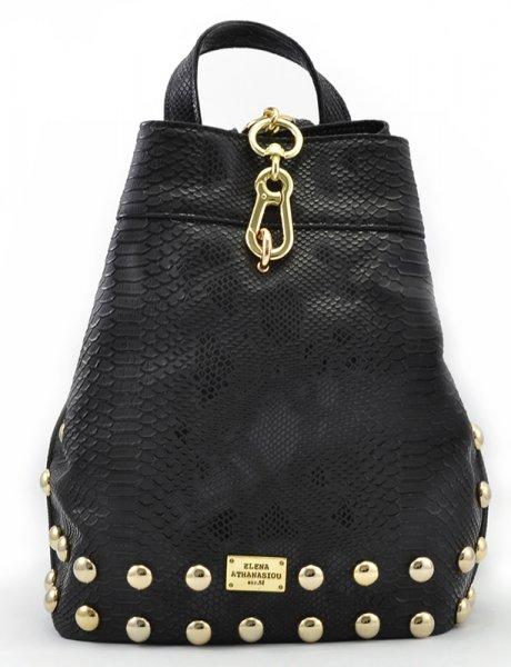 Backpack black snake gold