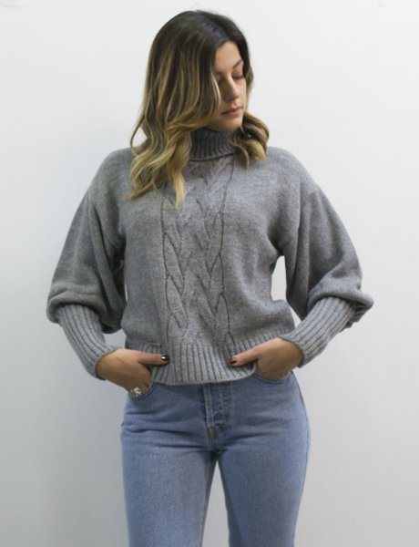 Combos F60 - Grey turtleneck sweater
