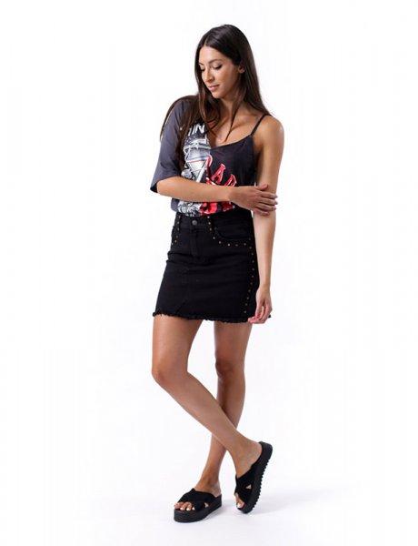 Mina black skirt