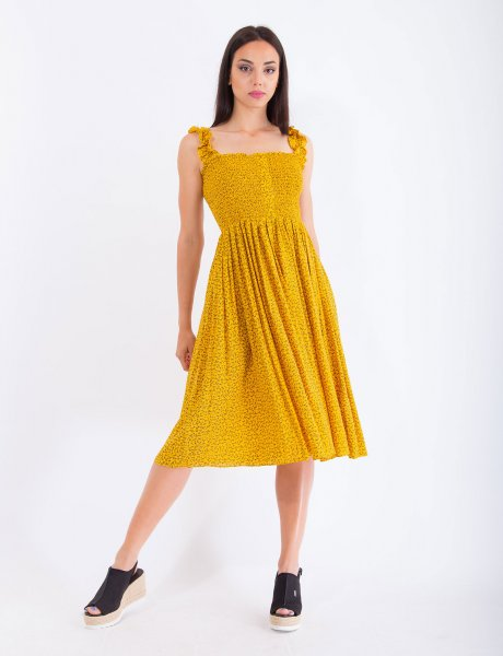 Diana yellow dress