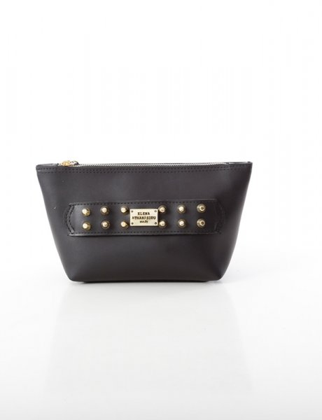 Boho clutch bag black