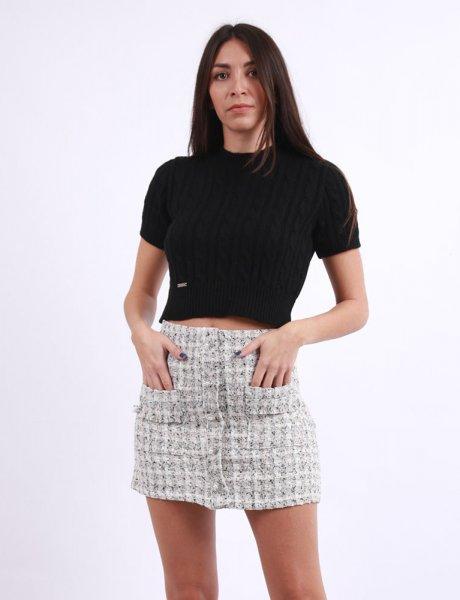 Off white mini skirt