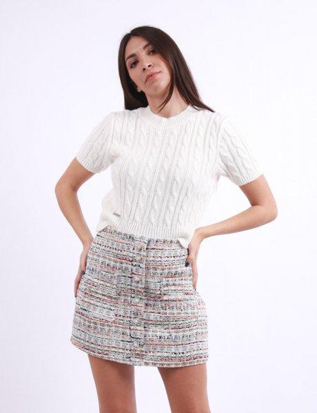 Multi knitted skirt