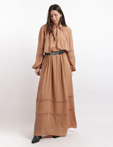 Gunslinger caramel maxi dress
