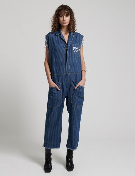 Camp french stripe overalls