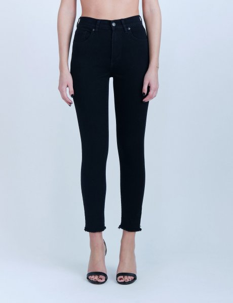 Kate black cropped denim pants