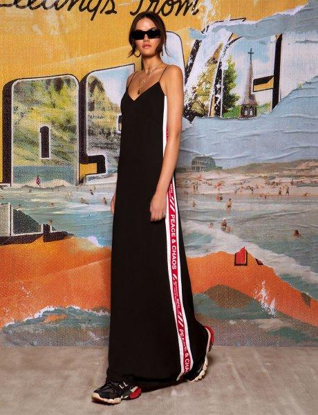 Line art maxi dress