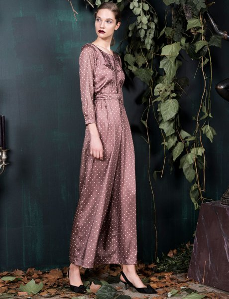 Secrete datura brown jumpsuit