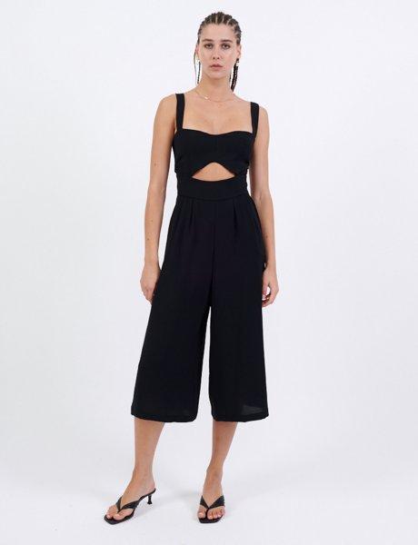 Black cut-out jumpsuit