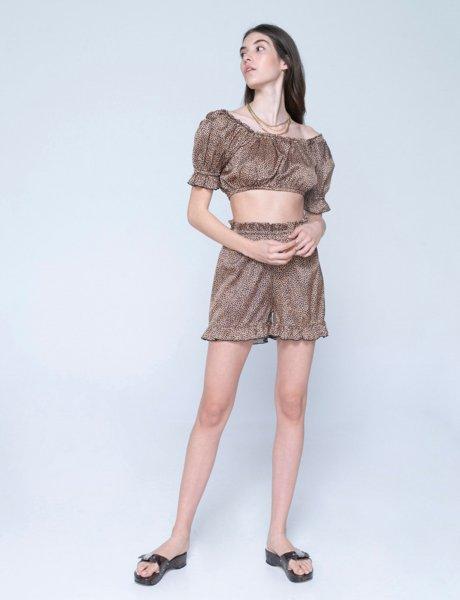 Lucia shorts croco