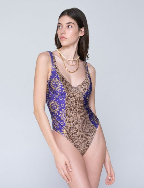Veronica swimsuit sun purple/croco