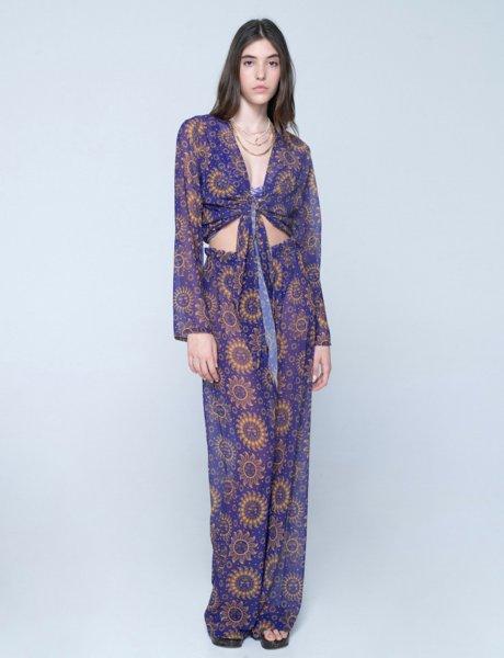 Valentina c-through pants sun purple