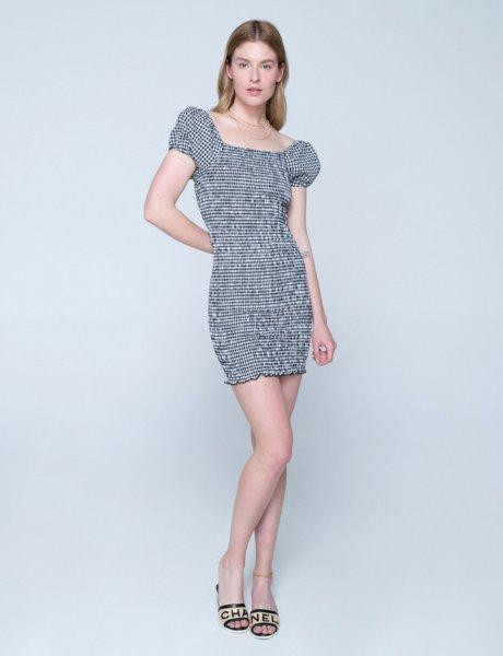 Amalfi dress black&white plaid