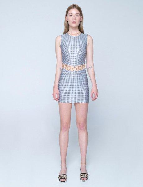 The little capri dress b&w plaid